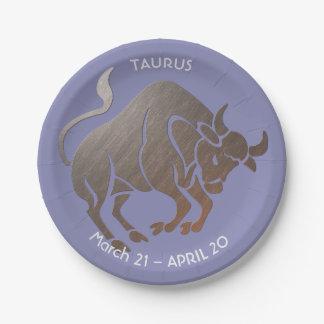 Prato De Papel Zodíaco do TAURUS