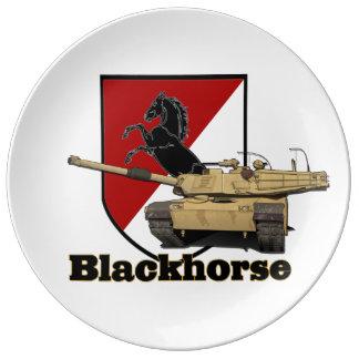 Prato De Porcelana 11o Remendo de Blackhorse & placa do tanque