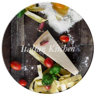 Prato De Porcelana A comida italiana personaliza o texto