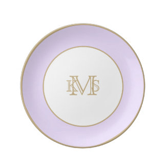 Prato De Porcelana Pastel do Lilac das glicínias para o miradouro do