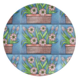 Prato Design da cor do pote de flor