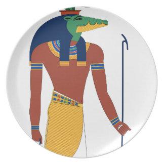 Prato Deus do crocodilo de Sobek