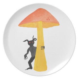 Prato Diabrete do cogumelo
