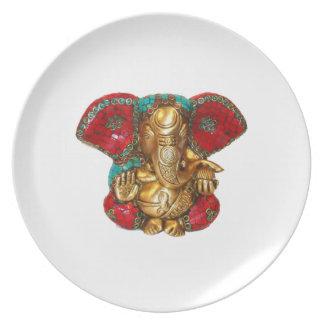 Prato DIWALI felizes - Obrigado GANAPATI Ganesh