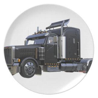 Prato Do preto caminhão do reboque de tractor semi