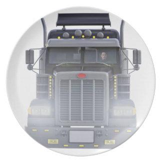 Prato Do preto caminhão do reboque de tractor semi com