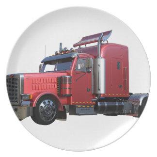 Prato Do vermelho caminhão metálico de Traler do trator