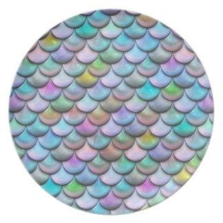 Prato Escalas coloridas pearlescent lustrosas brilhantes