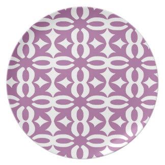 Prato Impressão violeta laçado do Victorian