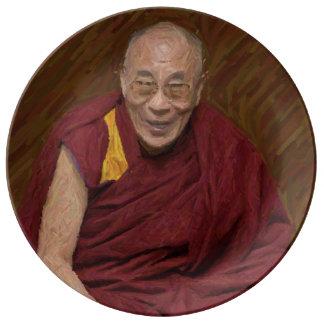Prato Meditação budista Yog do budismo de Dalai Lama
