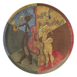 Prato Mestrado de Scat - série pinta do jazz. 6