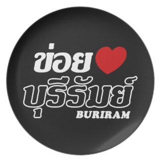 Prato Mim coração (amor) Buriram, Isan, Tailândia