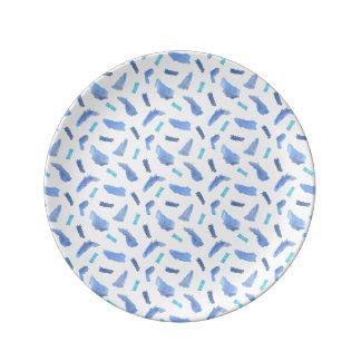 """Prato O azul mancha 8,5"""" placa decorativa da porcelana"""