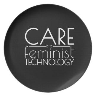 Prato O cuidado é uma tecnologia feminista