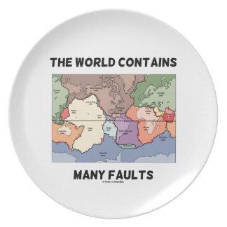 Prato O mundo contem muitas falhas (a tectônica de