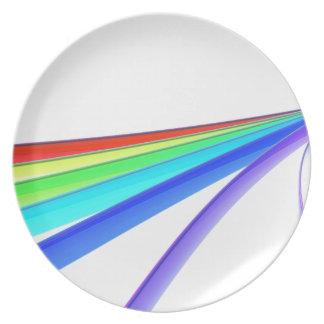Prato Ondas do arco-íris