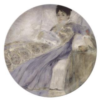 Prato Pierre uma senhora Monet de Renoir   em um sofá
