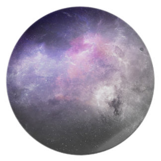 Prato Placa 4 do espaço - nebulosa roxa