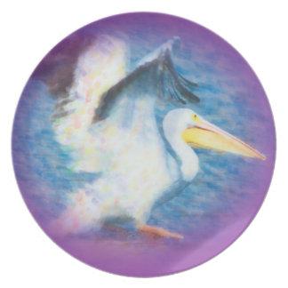 Prato placa da aguarela pelican17