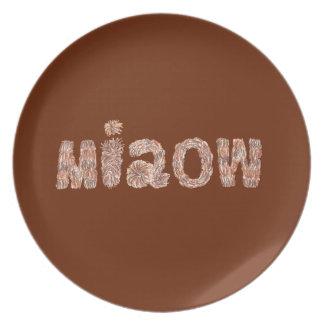Prato Placa da melamina de Miaow