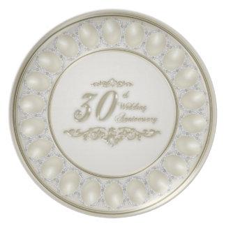 Prato Placa da melamina do aniversário de casamento da