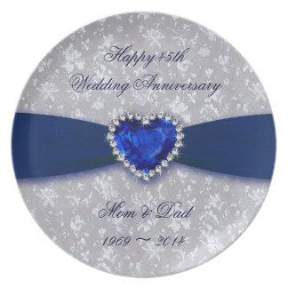 Prato Placa da melamina do aniversário de casamento do