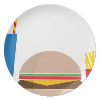 Prato refeição do fast food