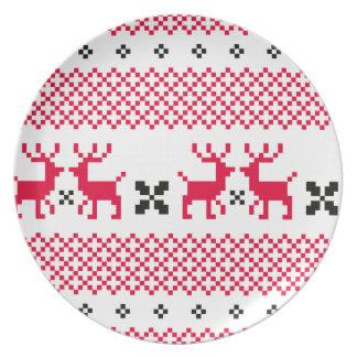 Prato T-shirt criativos das renas bonitos