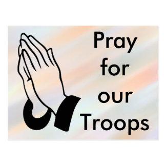 Pray para nosso cartão das tropas cartão postal