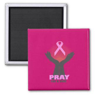 Pray para uma cura ímã quadrado