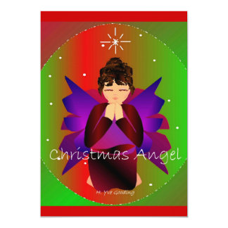 Praying do bebé do anjo do Natal Convite 12.7 X 17.78cm