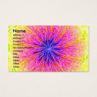 Prazer abstrato cartão de visitas