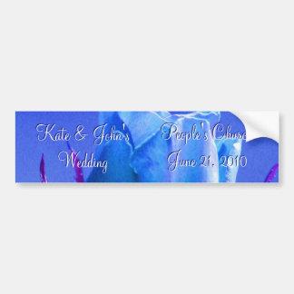 Prazer do rosa do azul adesivo para carro