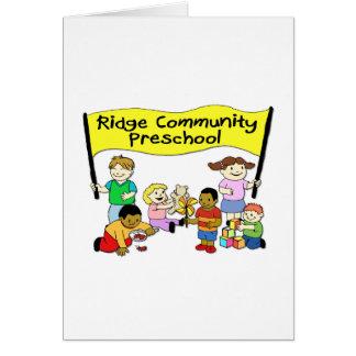 Pré-escolar da comunidade de Ridge Cartao