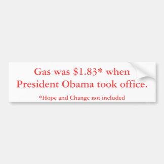 Preços de gás do presidente Obama Adesivo Para Carro