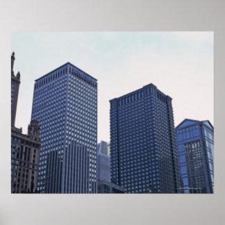 Prédios de escritórios em Chicago do centro, Illin Poster