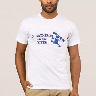 Preferencialmente no t-shirt do caiaque do rio