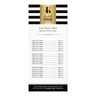PREGUE a tabela de preços das listras do branco do 10.16 X 22.86cm Panfleto