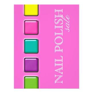 Pregue o rosa colorido da paleta da beleza do inse panfleto personalizados