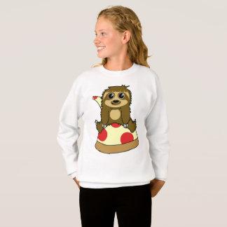 Preguiça da pizza camiseta