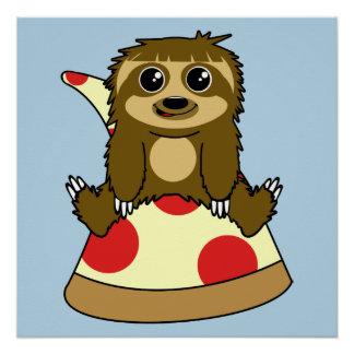 Preguiça da pizza póster