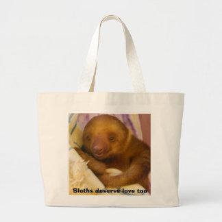 Preguiça do bebê bolsa tote grande