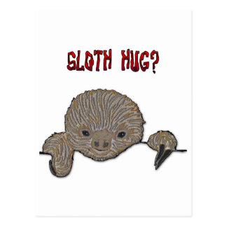 Preguiça do bebê do abraço da preguiça cartão postal