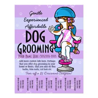 Preparação do cão. Folha de rasgo relativa à Modelos De Panfleto