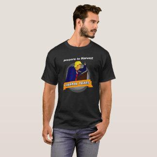 Prepare para colher rasgos liberais camiseta