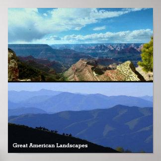Presente americano da paisagem de Skyviews das Pôster