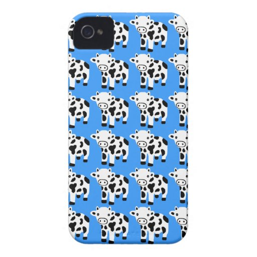 Presente azul bonito novo da caixa de Blackberry d Capa iPhone 4