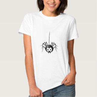 Presente bonito do Dia das Bruxas da aranha preta Tshirts