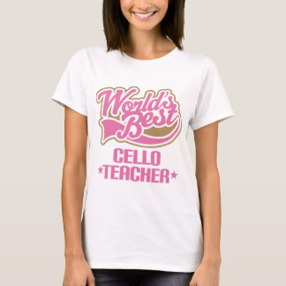 Presente bonito do professor do violoncelo t-shirt