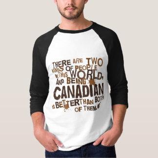 Presente canadense (engraçado) camisetas